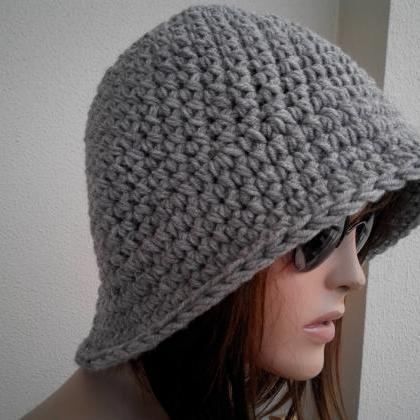 Womens fedora hat - chunky knit Slo..